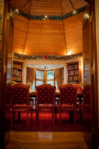 The Library At Christmas