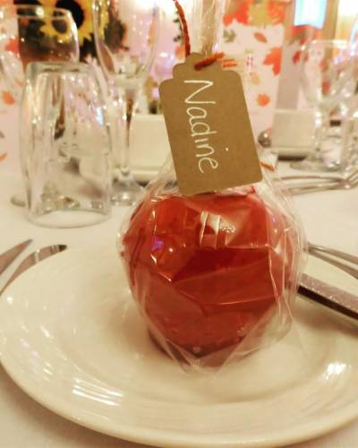 Toffee Apple Wedding Favour