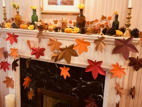 Autumn Themed Fireplace