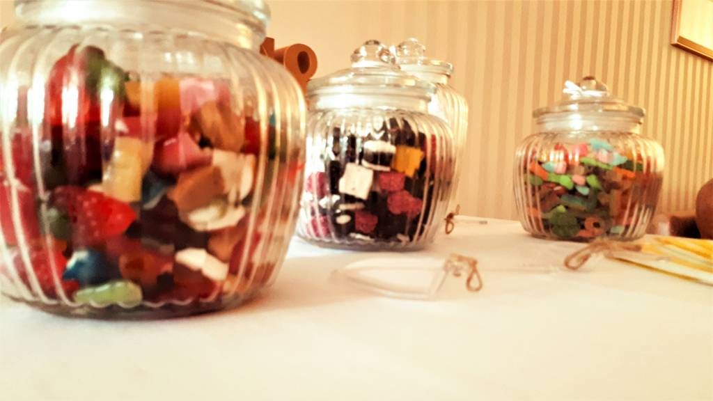 Image of sweet jars for a candy buffet table