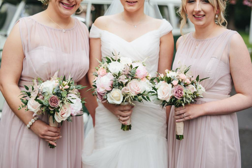 Image of a bride and her bridesmaids